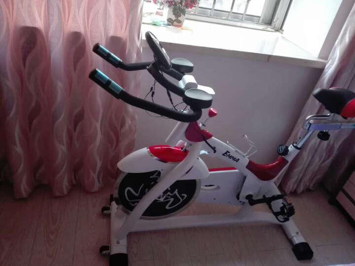 艾玛(EMMA)智能动感单车健身车家用静音皮带款减震 减肥室内自行车 健身器材 智能海蓝白S2000T 晒单图
