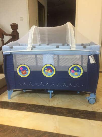 sweeby婴儿床垫天然椰棕床垫3E椰梦维宝宝床垫可拆洗透气儿童棕榈垫床垫 藏蓝色-牛津布布套(120*60) 天然椰棕丝 晒单图