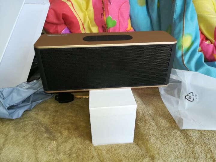 纽曼无线蓝牙音箱 创意双喇叭迷你电脑小音响低音炮 便携插卡收音机 华为小米手机音箱 土豪金 晒单图