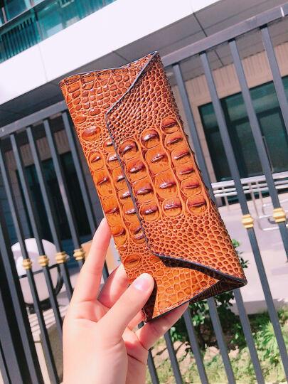 真皮钱包女2019新款日韩版大容量学生钱夹个性女士长款钱包时尚女式手机包 粉色 晒单图