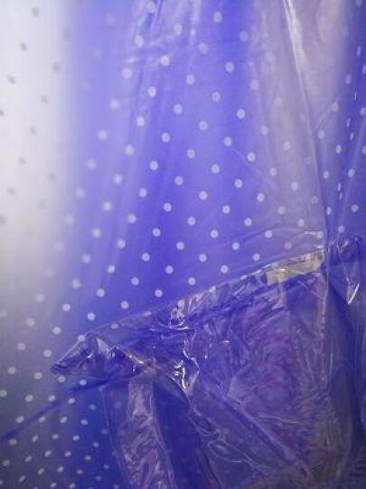 捷昇 电动车雨衣摩托车骑行雨披时尚成人男女加长加厚雨衣 双帽檐-蓝色 晒单图