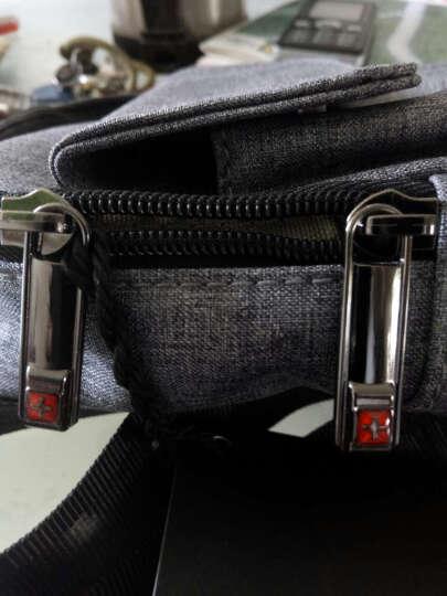 SWISSGEAR 胸包 棉麻时尚休闲胸包单肩斜挎包 户外运动旅行包男女 iPadmini包 SA-9859灰色 晒单图