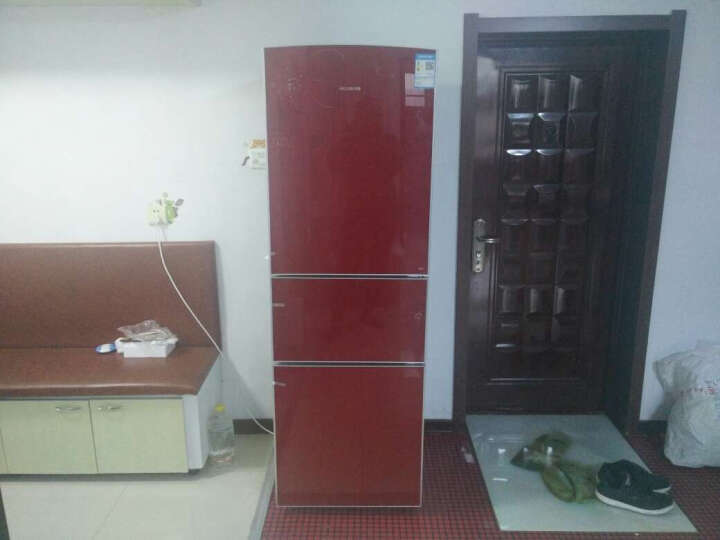 美菱(MeiLing) BCD-220L3BX 220升 三门冰箱 芙蓉红 玻璃面板 晒单图