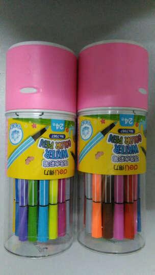 得力(deli) 7066 绚丽多彩可洗水彩笔/绘画笔 18色/筒 包装颜色随机 晒单图