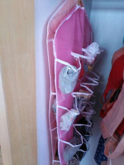 收纳挂式挂袋16格 创意衣橱柜衣架挂袋多层透明门后墙面分类整理 晒单图