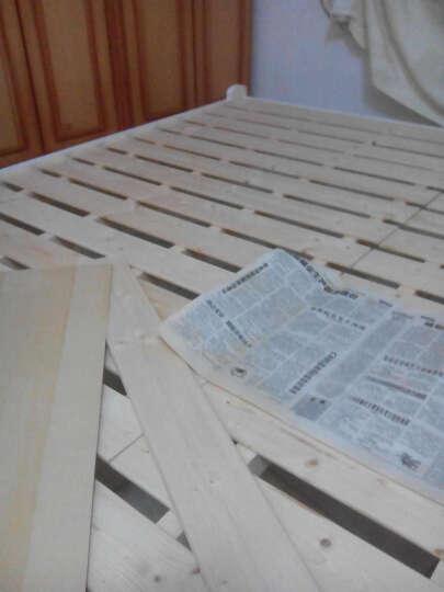 润岚居 现代环保实木床单人床1.2米双人床松木家具床公主床1.5 1.8米学生成人床 原木+双抽款 1M*1.9M 晒单图