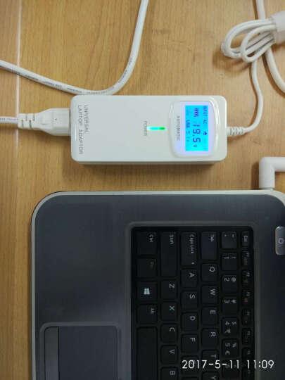 绿巨能(llano) 联想华硕惠普宏基戴尔三星笔记本多功能电源适配器LCD数显车载充电器 优雅白 晒单图