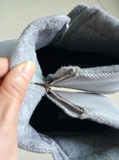 蜡笔小新童鞋儿童棉鞋男童女童靴子二棉鞋保暖鞋儿童雪地靴X-522灰色35 晒单图