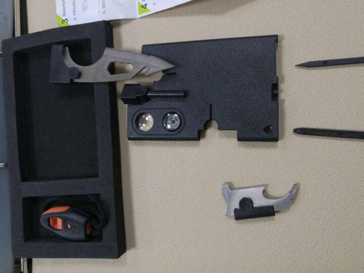 全能量 户外急救工具卡片刀军刀卡打火棒求生口哨18合一多功能救生卡K1571 黑色 晒单图