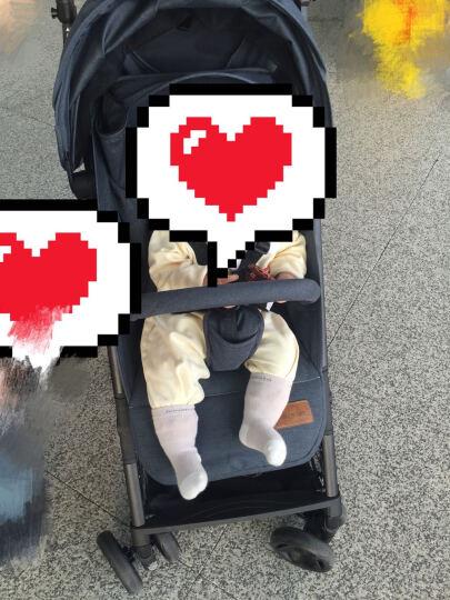 U'BEST ubestT婴儿推车高景观童车宝宝可坐可躺避震秒收折叠BB轻便手推 黑色星星(新款升级) 晒单图
