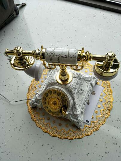仿古电话机欧式座机复古电话时尚创意礼品家用美式电话机 复古转盘+双铃声调节-油彩绣 晒单图