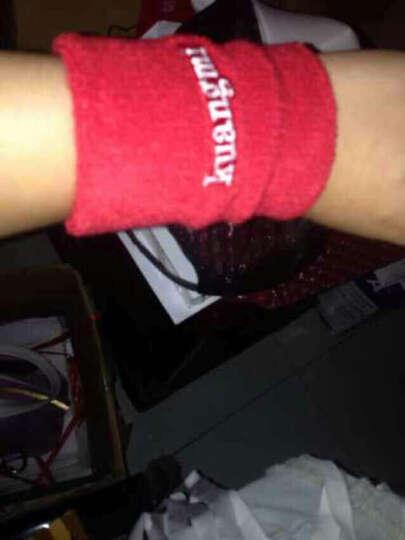 狂迷护腕 棉手腕护套吸汗擦汗运动护具 单只装 红色 均码 晒单图