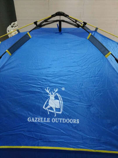 奥凯弗帐篷户外防暴雨 液压速开全自动帐篷 户外3-4人双层野营帐篷套装 防潮垫 晒单图