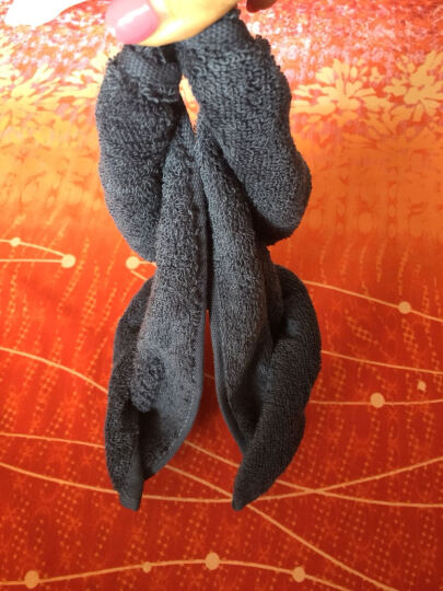 慕斯维(Natural)毛巾家纺 A类酒店毛巾 长绒棉 经典素色系列纯棉强吸水毛巾 15 毛巾咖+蓝 两条装(35cm*75cm) 纯棉 晒单图