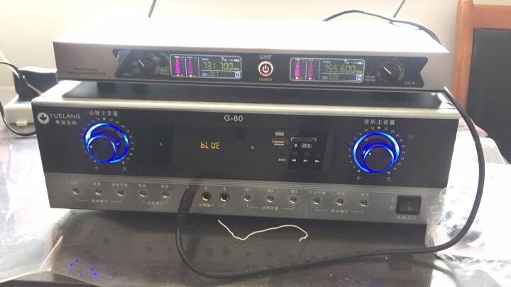 粤浪(YUELANG) HE6会议室音响套装组合家庭影院点歌机ktv卡拉ok舞台舞蹈功放机壁挂式音箱 (20-80平)G80+T8*2+U2话筒 晒单图