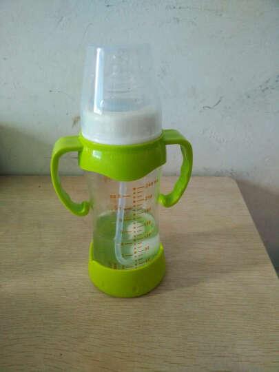 爱得利(IVORY) 婴儿奶瓶新生儿宝宝防摔玻璃奶壶宽口径喝水两用带手柄吸管保护套 白色 Y1022(150ml) 晒单图