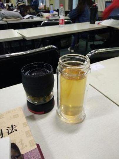 花间道 玻璃杯双层隔热带盖过滤泡茶杯茶水分离泡茶杯便携茶道泡茶师水杯子家用花茶杯办公室 拿铁咖 450ml 晒单图