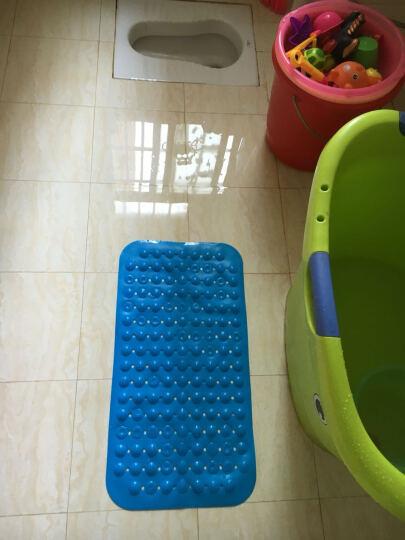 邦特家用大号浴室防滑垫按摩脚底进门门垫厕所卫生间厨房垫子沐浴地垫 深蓝草莓 36*71cm家人安全放心 晒单图