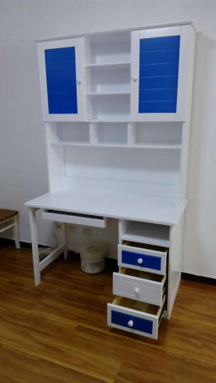 欧倍丝 全实木学习桌写字桌 组合书柜书架书桌电脑桌套房家具 粉色直角书桌+实木椅 晒单图