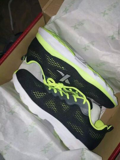 特步男鞋运动鞋男跑步鞋2017皮面休闲旅游鞋慢跑鞋 萤光绿/网面 40 晒单图
