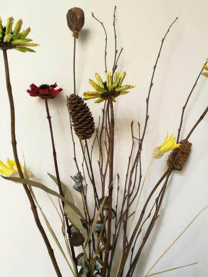 繁花故里 尤加利木棉花花束干花套装客厅装饰花瓶摆件 希望之光 -不含花瓶 晒单图