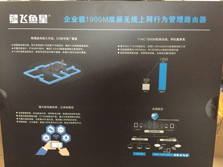 飞鱼星 VW1900 1900M千兆企业级智能无线路由器AC双频无线穿墙王封随身WiFi/微信吸粉 晒单图