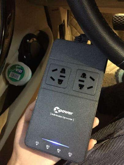 悦车人 车载逆变器12V转220V 汽车用电源转换器点烟器一拖三带4usb双插座充电器家用 T1A带电瓶检测 晒单图