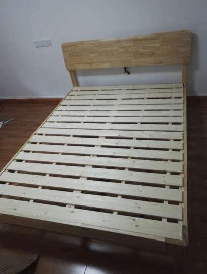 佰思家私 日式1.5/1.8米纯实木橡木单人床双人床环保卧室家具欧式现代简约 766-8 1.8米实木床-黑胡桃 晒单图