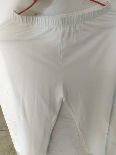 打底裤女七分夏季薄款外穿短裤大码莫代尔紧身小脚裤女 白色-七分裤 均码(1尺8-2尺4) 晒单图