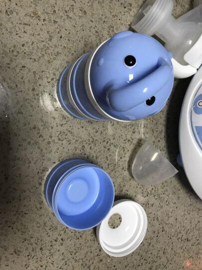 柚芽(udaone) 奶粉盒 便携 大容量奶粉格零食辅食盒三层装 小象蓝色 晒单图