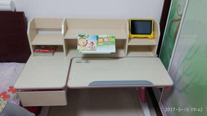 心家宜 儿童学习桌椅套装 儿童书桌 可升降多功能写字桌118CM 公主粉 晒单图