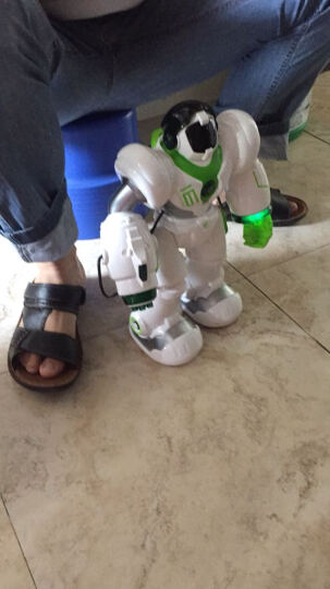 盈佳新威尔机械战警5088智能机器人儿童早教学习机电动玩具会唱歌跳舞互动智能玩具遥控机器人 白色充电版-大型35cm机械战警 晒单图