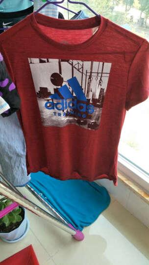 Adidas阿迪达斯女装 2017夏季新款运动休闲透气跑步圆领针织短袖T恤BK5067 AY5005 M/165/88 晒单图