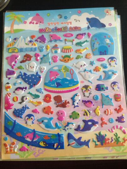 阳光男孩 儿童贴纸立体卡通贴纸PVC材质卡通动物人物粘贴画 动物随机一张(长29.5) 晒单图