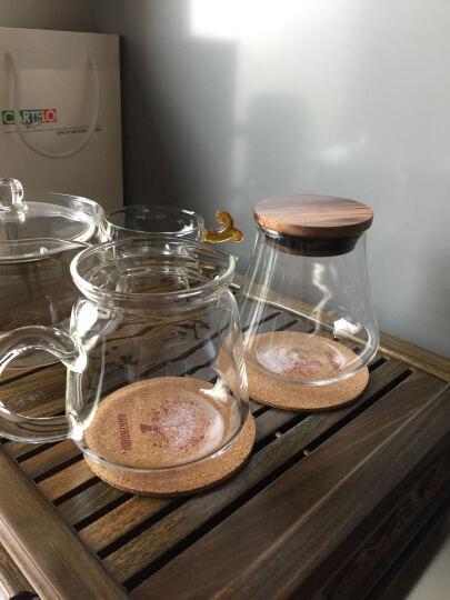 台湾宜龙简约玻璃功夫茶具配件加厚耐热玻璃公道杯茶海分茶器-圆柱形款 晒单图