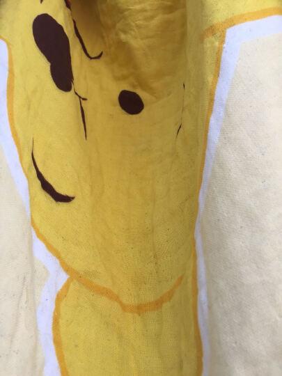 迪士尼(Disney)毛巾家纺 维尼熊甜蜜纱布浴巾 A类纯棉婴儿童正方形抱巾 G绿色 320g 98*98cm 晒单图