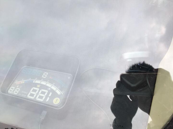 途行者 hud抬头显示器 手机导航 obd车载行车电脑投影仪显示仪汽车通用 车速油耗显示器 导航款(蓝白色) WiFi版 晒单图