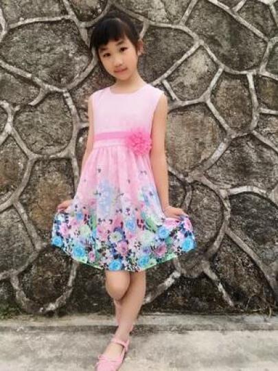 太子萨童装女童连衣裙夏装2018新款儿童裙子夏季公主裙女童中大童女装12 XQ090淡蓝色 140 晒单图