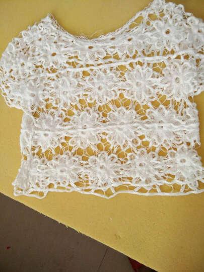 安娅萱2016外搭花朵提花勾花镂空小罩衫短款针织衫女. 白色 均码 晒单图