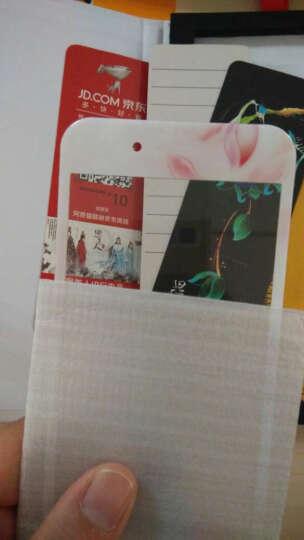 【京东配送】阿奇猫 苹果6s钢化膜全屏定制iPhone6splus全覆盖手机贴膜 plus5.5英寸鹤恋荷-皎白 晒单图