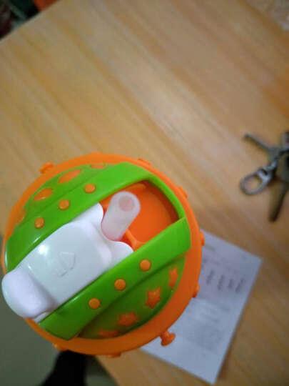 乐儿宝(bobo)儿童吸管杯 学生防漏水杯多功能杯带水壶(400ml橙色) 晒单图