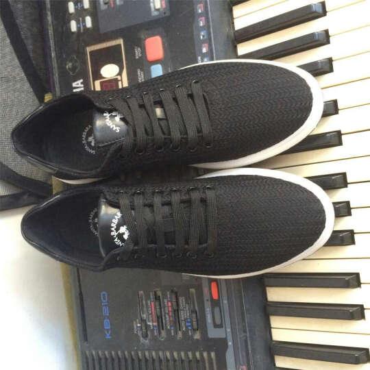 圣大保罗休闲鞋男鞋夏季透气板鞋 男士时尚运动潮鞋网布鞋网鞋子 黑色 41 晒单图