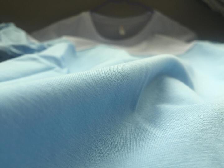 WMSHOW短袖t恤男圆领体恤2018夏季新品韩版修身拼接T恤衫 粉红 M 晒单图