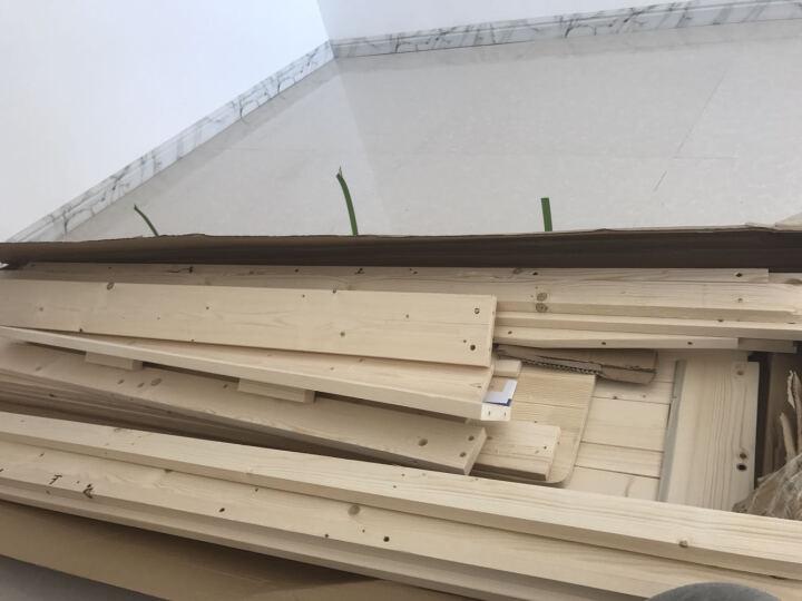 靖缘雅居P9环保松木床双人床实木床单人床成人床公主床1.5米床 原木床加抽屉无油漆加8CM厚度防螨3E椰梦维床垫 1.5米*2米卖家推荐 晒单图