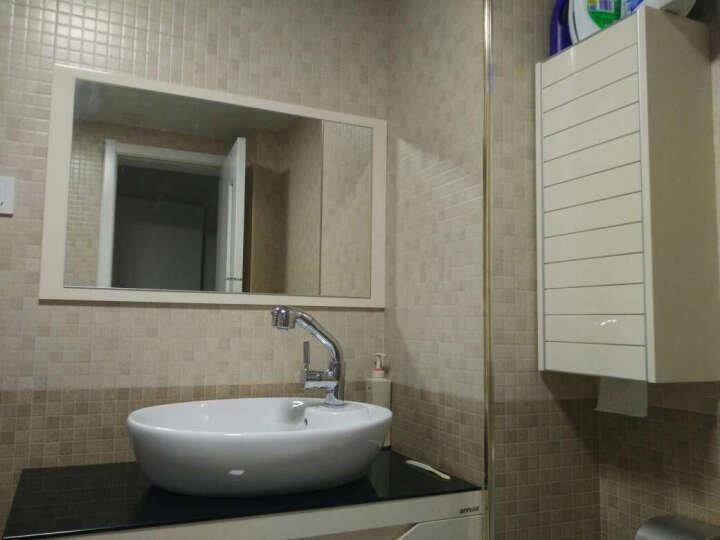 安华(ANNWA) 浴室柜吊柜组合套装(洗脸盆带侧柜4380/80/90/100cm) 0.8侧柜款米配0905抽拉式龙头97001072 晒单图