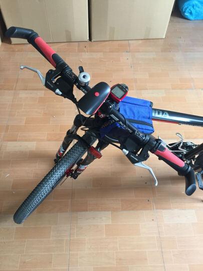 英派(INBIKE) 自行车灯车前灯山地手电筒USB充电喇叭铃铛骑行装备配件 红色 USB充电带灯版 晒单图