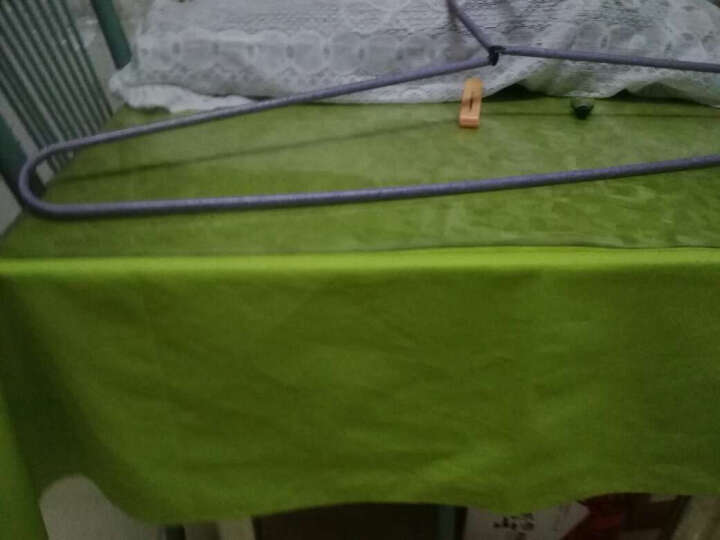 乐唯仕纯色系列纯棉布艺餐桌布餐桌布盖巾茶几布盖布台布圆桌布电脑桌布果绿 140cm*180cm(常用餐桌尺寸) 晒单图
