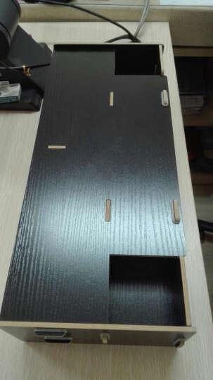 酷奇(cooskin) 台式电脑桌上显示器架增高架子桌面键盘隐藏架显示屏托架支架底座 基础款A-黑色 晒单图
