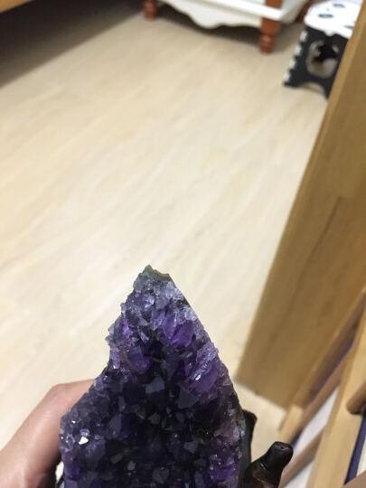 婧茹 天然紫晶洞聚宝盆摆件钱袋紫晶簇紫水晶洞块消磁家居办公水晶装饰品摆件 0.5-0.6公斤随机发货 晒单图