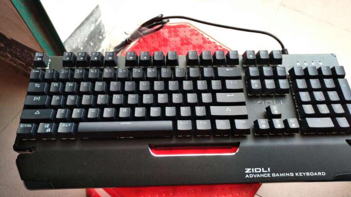 磁动力(ZIDLI) CK500机械键盘鼠标套装青轴lol笔记本游戏键鼠小智19302-jXsbp 暴走104键黑灰色青轴(拔插轴版) 晒单图